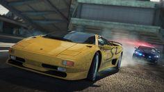 """""""Grande, Bravo y agresivo""""  Aprende más sobre el Lamborghini Diablo SV en el siguiente link:   http://www.needforspeed.com/es_ES/cars/lamborghini-diablo-sv-1995"""