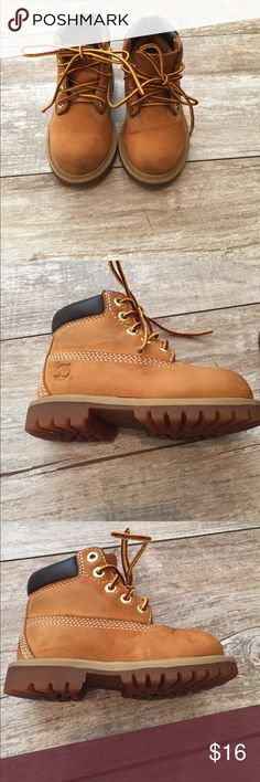 Timberland kids size 6 boots Timberland toddler size 6 boots. Note some wear, see photos, scuff at front of each boot Timberland Shoes Boots