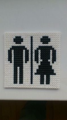 HAMA Perler Toilet Sign