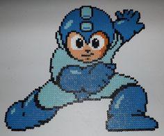 Mega Man NES Perler Bead Art (3x3 pegboards) by kamikazekeeg on deviantART