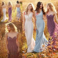 Elegant Jim Hjelm Bridesmaid Dresses With Crystal V Neck Sweetheart  Backless Beads Long Chiffon Garden Maid Of The Honor Dresses Cheap Maxi  Bridesmaid ... b508c6b6d957