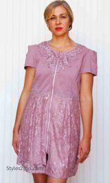 AP Shalay Tunic-Cardigan-Dress In Mauve
