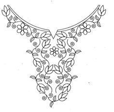 hand embroidery designs for neck - Buscar con Google