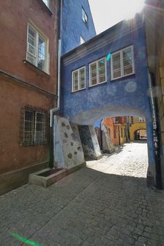 Dawna street, Old Town, Warsaw. I have a picture of myself underneath that little bridge :)