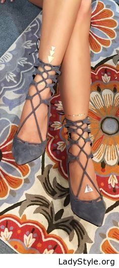 Grey sandals design - LadyStyle