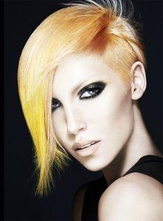 Cheek'an Blond #gold #hair #asymmetrical #hairstyle