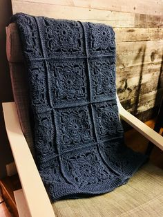 Willow Block Afghan. Block pattern by Jan Eaton