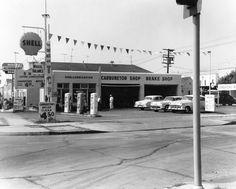 Shell service station. 1958.