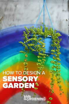 Tips for designing a sensory garden for kids of all ages. Use a diversity of shapes, textures, smell Preschool Garden, Sensory Garden, Edible Plants, Edible Garden, Outdoor Learning Spaces, Play Spaces, Outdoor Nursery, Rainbow Garden, Spring Activities