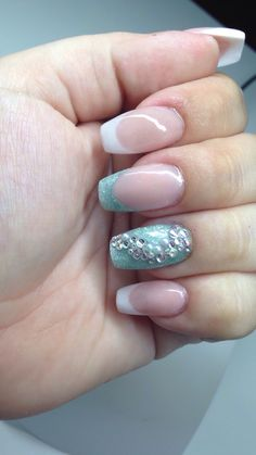 French porcelain nails with crystals