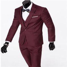 Men Suits 2017 New men's fashion casual suits sets /male business casual solid color suit jacket blazers +Vest+pants trousers Three-piece