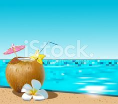 Buy Coconut Coctail by Koryaba on GraphicRiver. Vector illustration of coconut cocktail on swimming pool side Vector Background, Free Vector Art, Swimming Pools, Alcoholic Drinks, Coconut, Illustration, Vectors, Fonts, Royalty