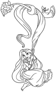 disney tangled coloring pages printable coloring sheets disney princess rapunzel free for toddler 20586 - Coloring Page For Toddlers
