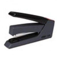 Desk Supplies> Staplers: Press Less SuperFlatClinch Stapler, 30-Sheet Capacity, Black
