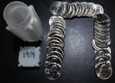 1959 .25c BU   Washington Silver Quarters 40 Brilliant Uncirculated GEM Coins