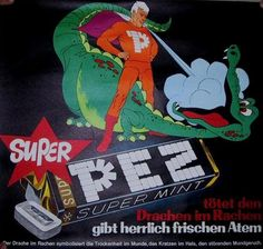Vintage PEZ Ad: The Adventures of SuperPEZ - funny commentary