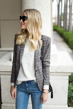 Little Blonde Book A Fashion Blog by Taylor Morgan: Plaid, Beaded and Emerald