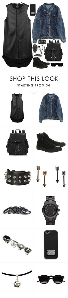 """Lea, school"" by goddamncheesecake ❤ liked on Polyvore featuring rag & bone, Lipsy, Converse, Monki, Pieces, Michael Kors, H&M, MICHAEL Michael Kors and Chicnova Fashion"