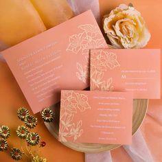 printable coral custom fall wedding cards EWI212 as low as $0.94