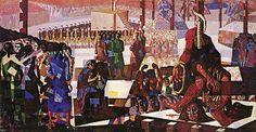 Portinari, Candido  Tiradentes  , 1948 - 1949  têmpera sobre tela, c.i.e.  309 x 1767 cm  Fundação Memorial da América Latina, São Paulo, SP.