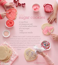 My favourite- Valentines day themed food stuffs. Love heart shaped sugar cookies <3