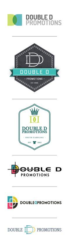 Double D Promotions - DesAutels Designs Typography Logo, Logos, Logo Branding, Branding Design, Logo Development, Promotion, Design Desk, Buisness, Logo Design Inspiration