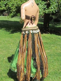 Tribal belly dance Brown long shelled by MidnightOrchidDesign, $135.00