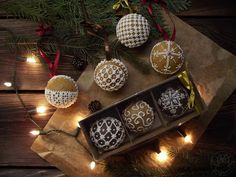 Gingerbread baubles, 3D baubles, perfect for Christmas