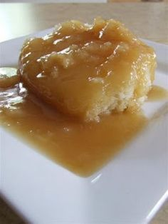 """Pudding Chômeur made with 1 cup of maple syrup. Note that an X pan is pretty much the same as a square pan. And that name is kind of """"Frenglish"""" (half French half English). It should be """"Pouding Chômeur"""" or """"Unemployed person's Pudding"""". Pudding Chomeur Recipe, Pudding Cake, Pudding Recipes, Cake Recipes, Dessert Recipes, Maple Syrup Cake, Maple Cake, Maple Syrup Recipes, Poor Mans Pudding"""
