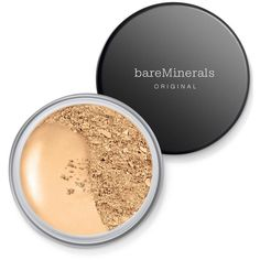 bareMinerals Original Spf 15 Foundation, 0.28oz ($29) ❤ liked on Polyvore featuring beauty products, makeup, face makeup, foundation, light, bare escentuals, spf foundation and bare escentuals foundation