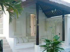 small chic verandah at New Moon Villa, Ubud