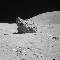 Apollo 16 Station 13 pan frame, Shadow Rock with Smoky Mountain in the background. Space Projects, Space Crafts, Sistema Solar, Apollo Moon Missions, Apollo 16, Apollo Space Program, Stone World, Space And Astronomy, Space Travel