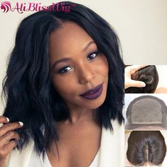 Aliexpress.com : Buy Silk Top 150% Natural Wave Lace Front Short Bob Wig For Black Women Middle Part Full Lace Human Hair Wigs Virgin Brazilian Wig from Reliable top quality wigs suppliers on Qingdao Bliss Wig Hair Products Co., Ltd.