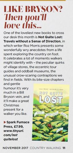 in Country Walking magazine Travel English, Bill Bryson, New Books, Hiking, Lost, Outdoors, Magazine, Holidays, Country