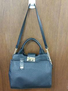 Olivia + Joy Nadiya Collection Black Satchel Handbag Shoulder Bag NWT $98 #OliviaJoy #ShoulderBag