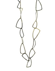 """Paulette Werger: Triad Chain, Oxidized sterling silver chain. 20 1/2"""" long. Also available in light sterling silver."""