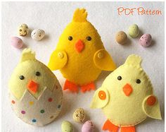 Felt Chick PDF Pattern, Easter Chick, Tutorial, Sewing Pattern, Instant Download
