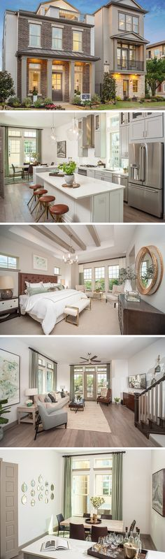 The llythia by David Weekley Homes in Oak Park Villas is a 3 bedroom 3 bath modern home that features a large open kitchen and family room, a 2 car garage and a large walk-in closet in the owners retreat. Custom home options include a fireplace in the family room, a private rooftop deck or an outdoor cooktop.