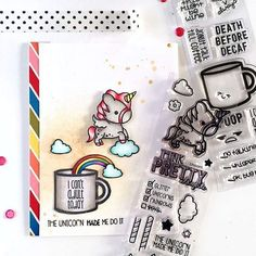 Unicorn Card created by designer Samantha Mann using the Sweet Stamp Shop Unicorn and Muggin stamp sets #sssmuggin #sssunicorn