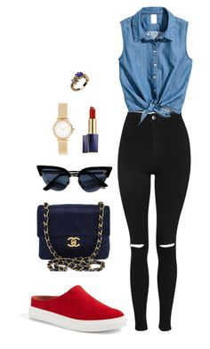Street style by dalma-m on Polyvore featuring polyvore fashion style Topshop Caslon Chanel Skagen Estée Lauder clothing