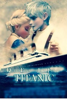 """Jelsa + Titanic = fangirling <<< Do you even remember what happens at the end?! """"An iceberg... But I'm pretty sure if we were there it would end differently"""" - @elsaofficial"""