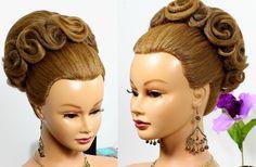 Hairstyles for long medium hair. Updo hairstyles