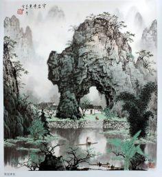 Bai Xueshi 白雪石 (Chinese, 1915–2011) Chinese Painting Flowers, Chinese Landscape Painting, Landscape Art, Landscape Paintings, Japan Painting, Ink Painting, Chinese Artwork, Tibetan Art, China Art