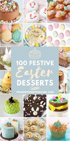 Celebrate easter with one of these beautiful easter desserts. There are easter cakes, easter cupcakes, easter cookies and many more dessert recipes that are perfect for a crowd and will look stunning on your easter dessert table. Mini Desserts, Christmas Desserts, Holiday Treats, Holiday Recipes, Egg Desserts, Healthy Desserts, Desserts For Easter, Italian Desserts, Baking Desserts