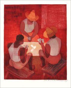 Louis TOFFOLI : Joueurs de carte à Bahia : Galerie 125