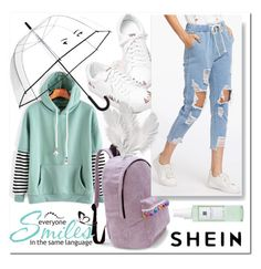 """SHEIN 10"" by aidaaa1992 ❤ liked on Polyvore featuring WALL, Kate Spade and Linne"