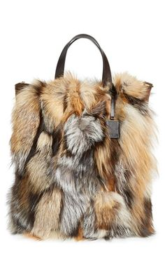 a7ee4ff7ef Michael Kors  Extra Large Addington  Genuine Fox Fur Tote available at   Nordstrom Fur