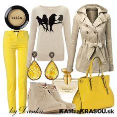 Jemná žlto-béžová kombinácia - KAMzaKRÁSOU.sk #kamzakrasou #sexi #love #jeans #clothes #coat #shoes #fashion #style #outfit #heels #bags #treasure #blouses #dress