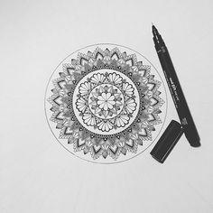 More progress :) . . . . . . #wip #flower #mandala #mandalas #flower #l4l #ff #mandalaplanet #blxckmandalas #illustration #drawing #draw #drawsomething #zentangle #zendoodle #doodle #doodling #art #artwork #artist #unipen #black #white #paper #afterhours #denmark #viborg