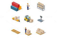 Isometric Process of the Warehouse by robuart on @creativework247